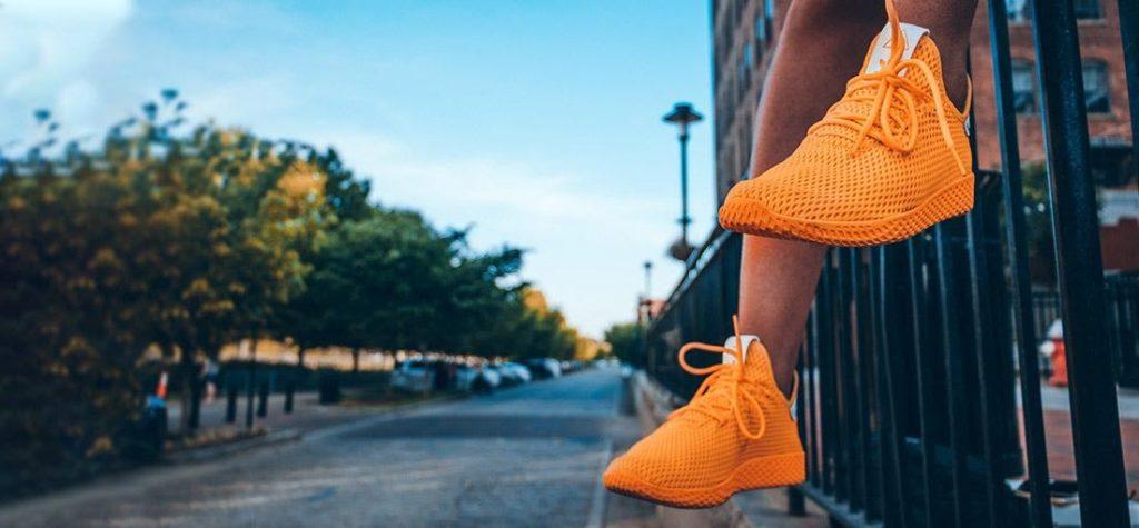 síťované tenisky, síťované boty, oranžové boty